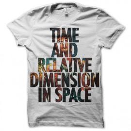 tee shirt doctor who - Tardis blanc mixtes tous ages