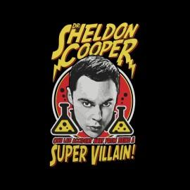 tee shirt sheldon cooper super villain noir