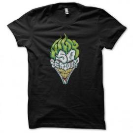 tee shirt joker why so serious noir