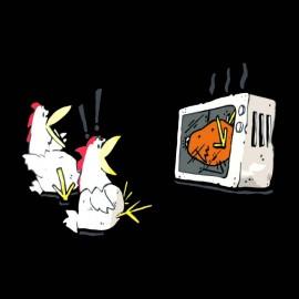 tee shirt anti poulets noir