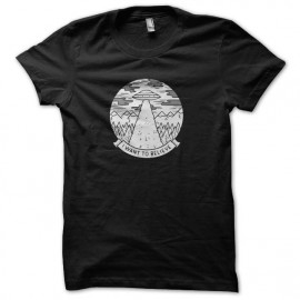 tee shirt i want to believe x-files noir