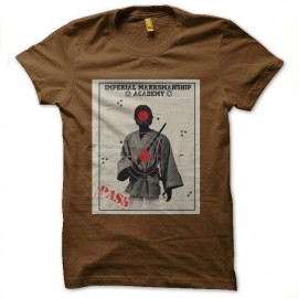 tee shirt imperial academy star wars marron