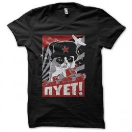 tee shirt chat communiste noir