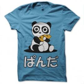 tee shirt panda surprise turquoise