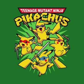 tee shirt pokemon tortue ninja vert