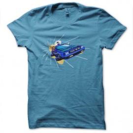 tee shirt police box futur turquoise