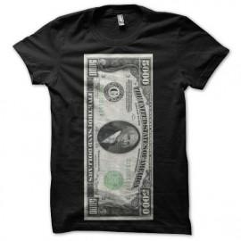 Tee shirt us dollar 5000 noir