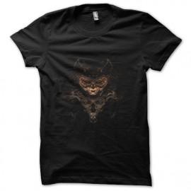 tee shirt space cat robot noir