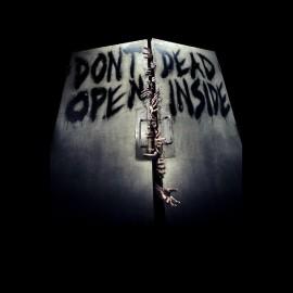 tee shirt walking dead dead inside noir