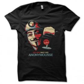 tee shirt anonymousse bière noir