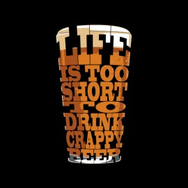 tee shirt beer fife to short noir