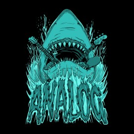 tee shirt shark analog