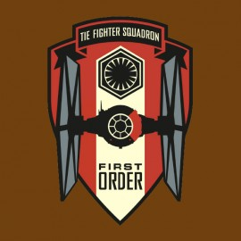 tee shirt star wars first order marron