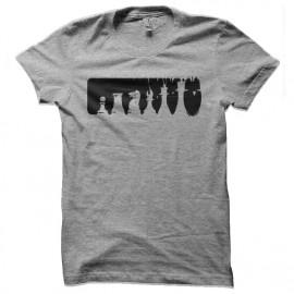tee shirt echec game gris