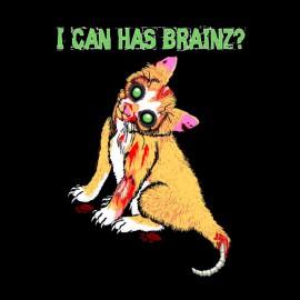tee shirt chat zombi cerveaux
