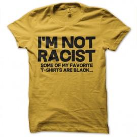 tee shirt not racist jaune