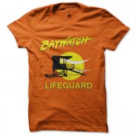 tee shirt baywatch orange