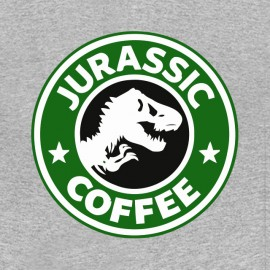 tee shirt jurassic coffee gris