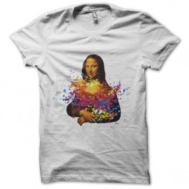 tee shirt mona lisa blanc mixtes tous ages