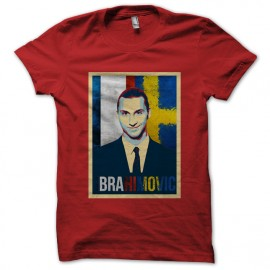 tee shirt Ibrahimovic rouge