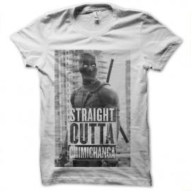 tee shirt deadpool straight outta chimichanga