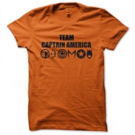 tee shirt team captain america