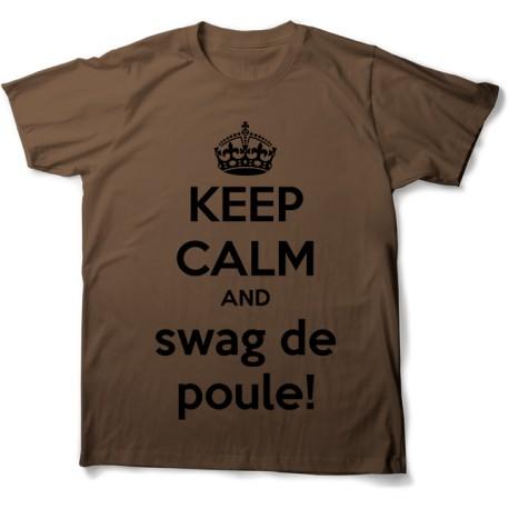 tee shirt keep calm swag de poule norman mixtes tous ages
