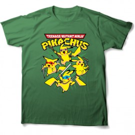 tee shirt pikachu et tortue ninja