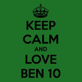 tee shirt keep calm and love ben 10
