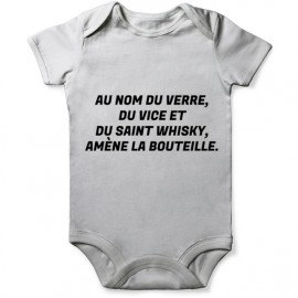 grenouillere priere alcool pour bebe