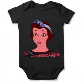 body princesse la belle et la bete en punk pour bebe