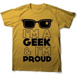tee shirt fier d etre geek