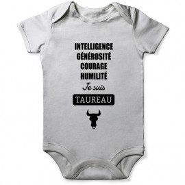 grenouillere taureau astro pour bebe