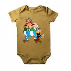 Body Asterix et Obélix pour enfant Baby Or Courtes