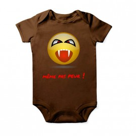 Body smiley vampire pour bébé Baby Marron Courtes