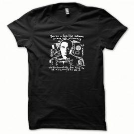 Tee shirt Sheldon Cooper le phylosophe blanc/noir mixtes tous ages