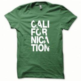 Tee shirt Californication blanc/vert bouteille