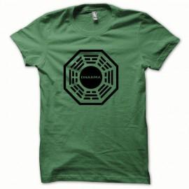 Tee shirt Dharma noir/vert bouteille