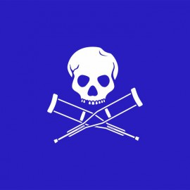 Tee shirt Jackass blanc/bleu royal
