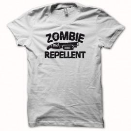 Tee shirt  Zombie fusil à pompe replicant  blanc mixtes tous ages
