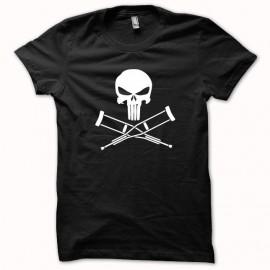 Tee shirt Jackass vs Punisher blanc/noir