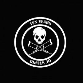 Tee shirt Jackass 10 years of stupid blanc/noir