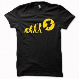 Tee shirt Evolution Sorcière orange/noir mixtes tous ages