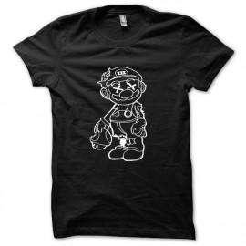 Tee shirt mario bros zombi noir