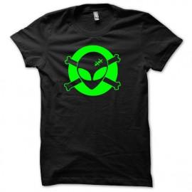 Tee shirt U.F.O Roswell techno vert/noir mixtes tous ages