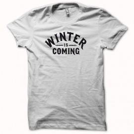 Tee shirt winter is coming Le Trône de fer de base noir/blanc mixtes tous ages