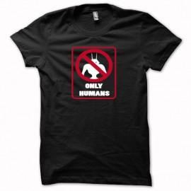 Tee shirt Disctrict 9 Humans only blanc/noir mixtes tous ages