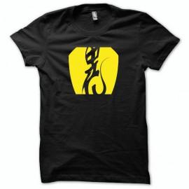 Tee shirt Alien U.F.O Roswell jaune/noir mixtes tous ages