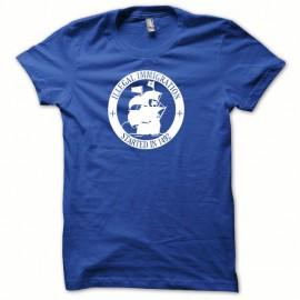 Tee shirt illegal immigration blanc/bleu royal mixtes tous ages