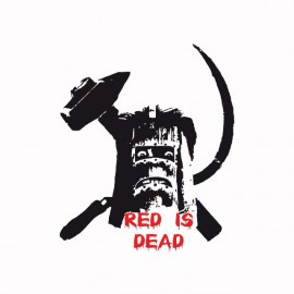 Tee shirt la cité de la peur red is dead noir/blanc